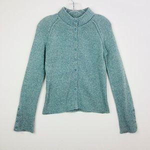 Moth Green Wool Cashmere blend knitted sweater  M